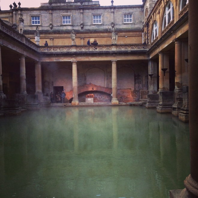 Roman bath house via Blushed Tapatia